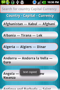 Country Capital Currency- screenshot thumbnail