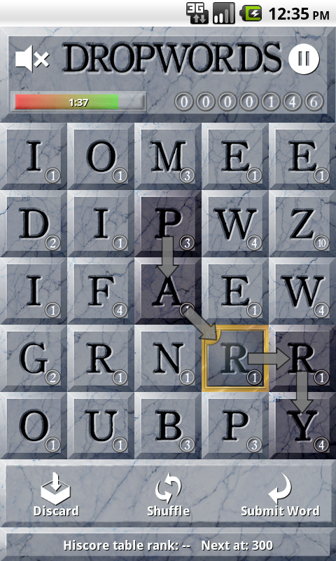 Dropwords - screenshot