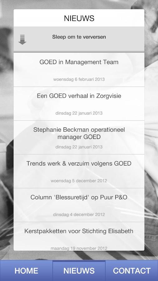 GOED verzuimregistratie - screenshot