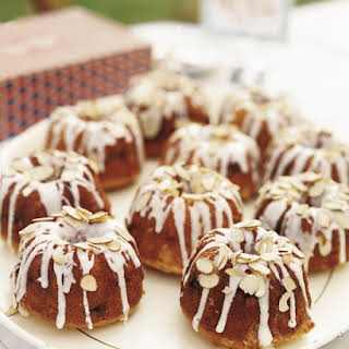 Mini Almond Bundt Cakes.