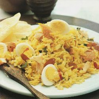 Smoked Trout Kedgeree With Quail's Eggs