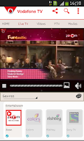 Screenshot of Vodafone Mobile TV Live TV