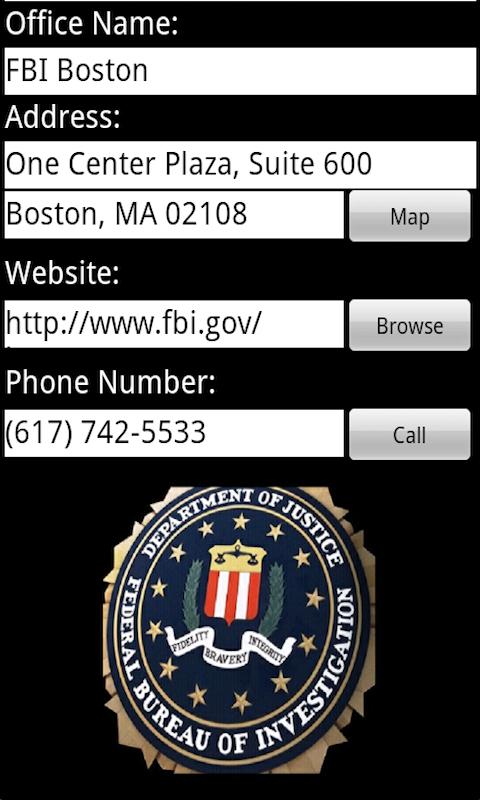 FBI Field Offices for Phones screenshot #4