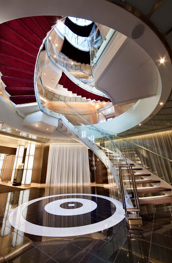 Seabourn_Atrium-2 - The Atrium staircase showcases the style and elegance you'll find aboard Seabourn Odyssey.