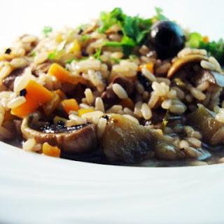Aubergine and Mushroom Risotto Recipe