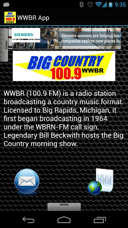WWBR App - screenshot