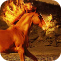 Fire breathing horse LWP icon