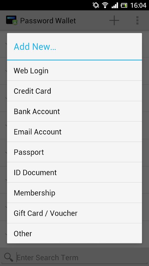 PassWallet 1.0 - screenshot