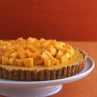 Mango Tart with Coconut Crust.