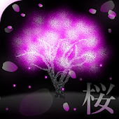 Neon Cherry Blossoms LiveWall