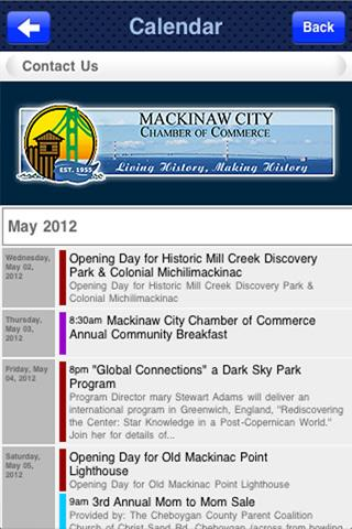 Mackinaw City Chamber- screenshot