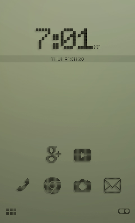 Retro LCD Smart Launcher Theme - Android Apps on Google Play