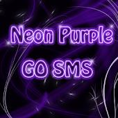 Neon Purple Style GO SMS PRO