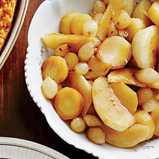 Glazed Turnips and Parsnips
