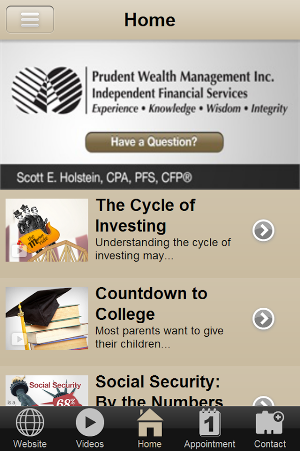 Prudent Wealth Management- screenshot