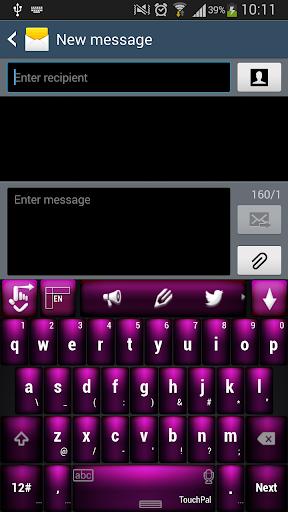 紫色的键盘