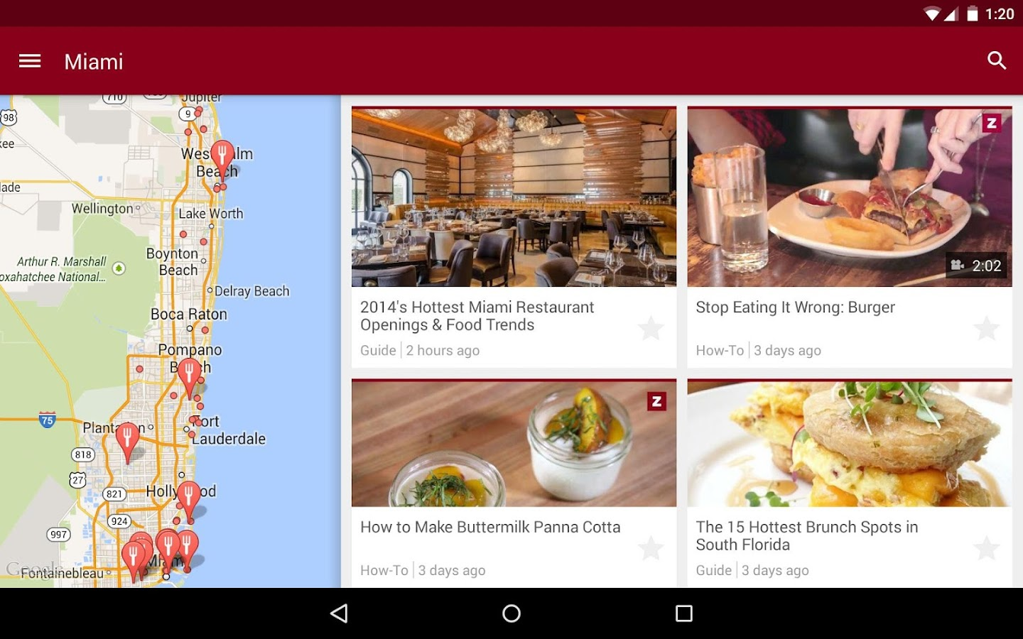 Zagat- screenshot