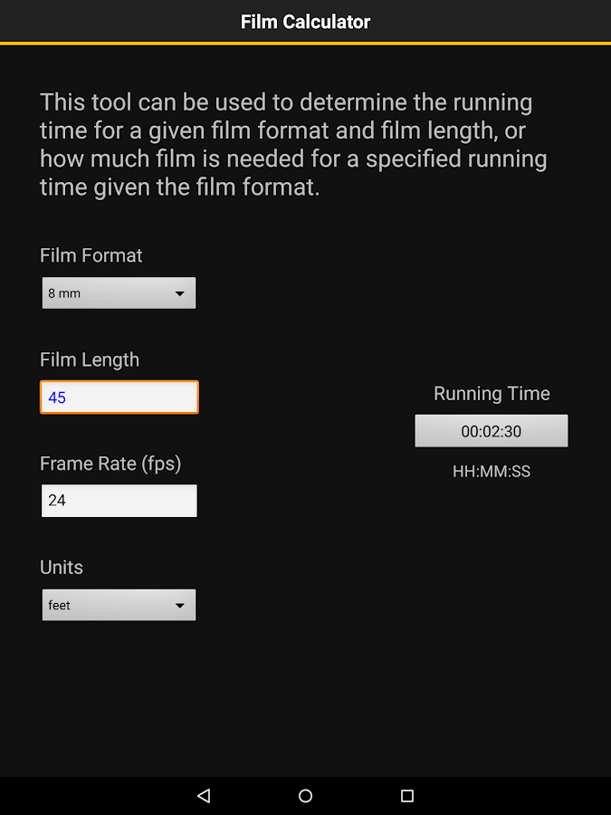 Kodak Cinema Tools- screenshot