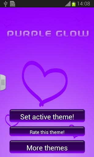紫色のグローキーボード無料
