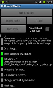 SGS kernel flasher - screenshot thumbnail
