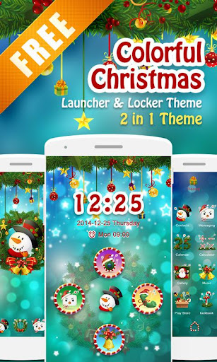 Colorful Xmas 2 in 1 Theme