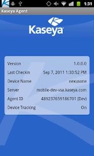 Kaseya Agent- screenshot thumbnail
