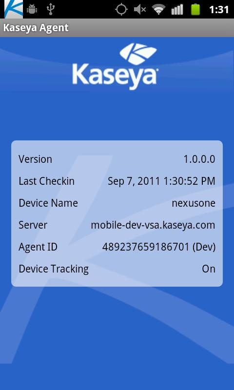 Kaseya Agent- screenshot