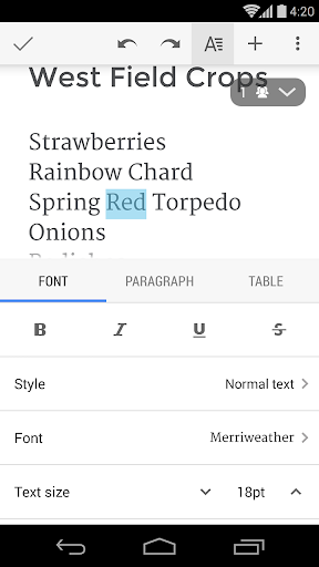 Google Docs  screenshots 3