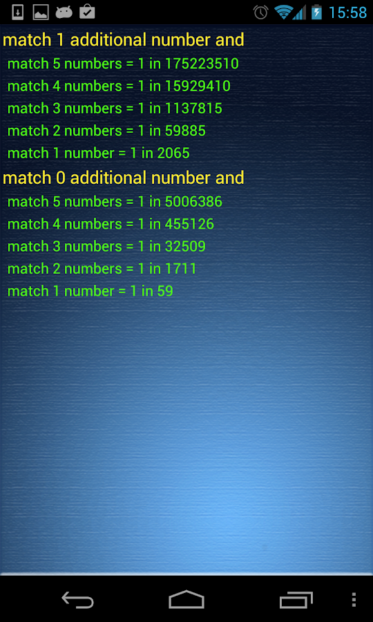 Your Lucky Lotto Numbers - screenshot
