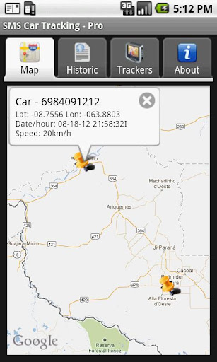 Screenshots for SMS Car Tracking Free