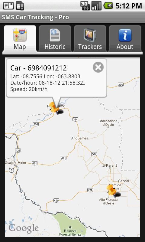 SMS Car Tracking Free- screenshot