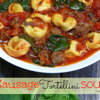 Sausage Tortellini Soup.