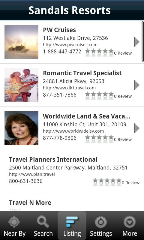 Find A Travel Specialist- screenshot