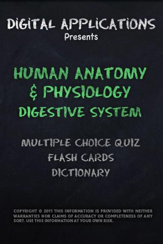 ANATOMY/PHYSIOLOGY DIGESTIVE - screenshot
