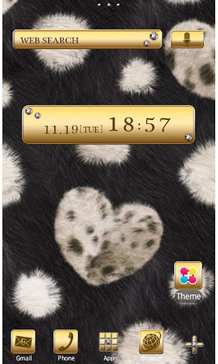 Chic Theme FUR HEART -BLACK- 2.0.0 Windows u7528 1