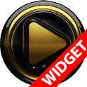 Poweramp widgetpack BLACK GOLD icon