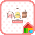 sweet milk dodol theme icon