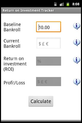 Betsizer - Gambling Calculator- screenshot