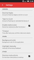 Screenshot of BPM Tap