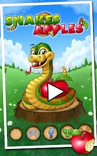 小蛇吃蘋果