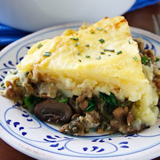Lentil and Mushroom Shepherd's Pie.
