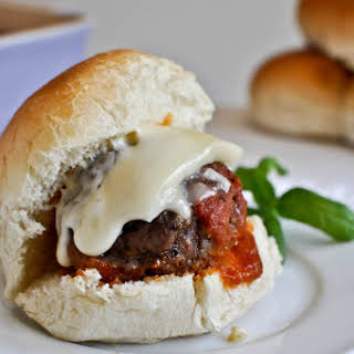 Cheesy Stuffed Meatball Sliders.