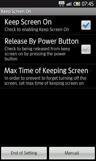 Keep Screen On