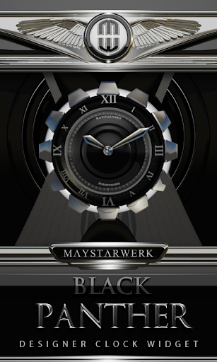 Clock Widget Black Panther