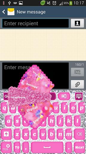 粉红钻石键盘