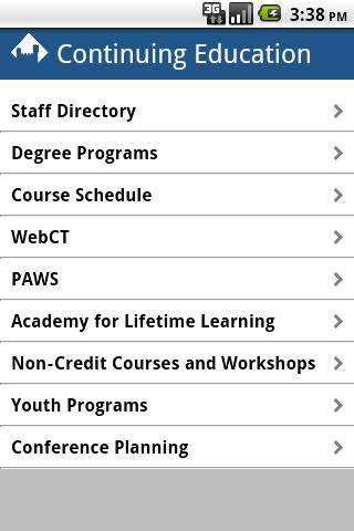 EIU Continuing Ed- screenshot