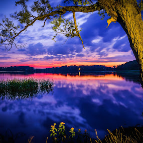 Sunset in Masuria by Marcin Frąckiewicz - Landscapes Sunsets & Sunrises ( sunsets, sunset,  )