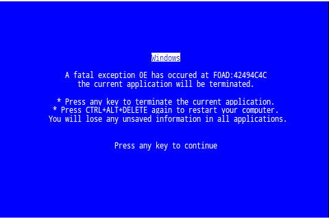 BSOD(roid) - screenshot