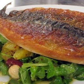 Grilled Mackerel With Watercress And Orange Salad.
