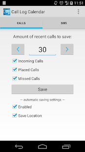 Call Log Calendar (Free/Trial) - screenshot thumbnail